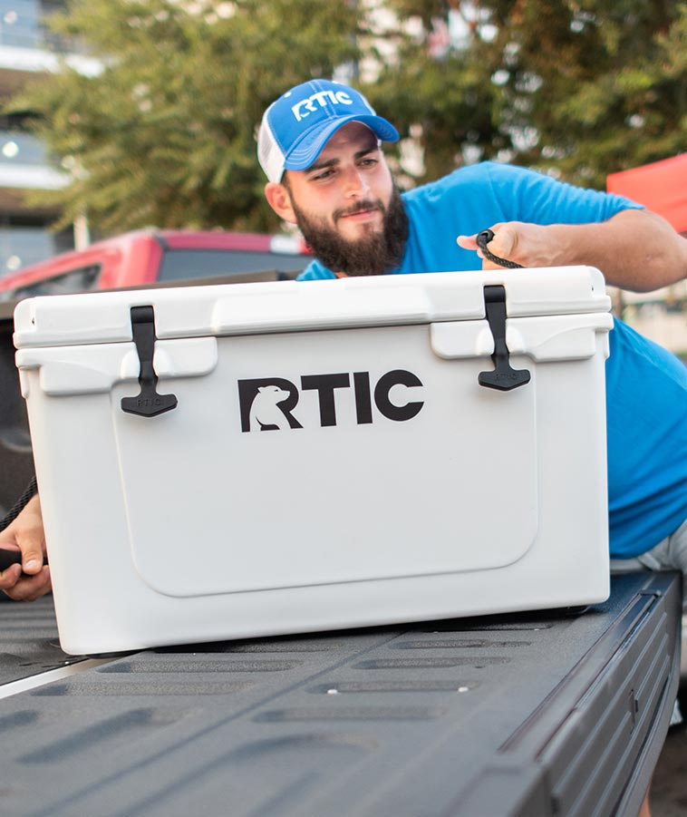 Man Moving RTIC Cooler