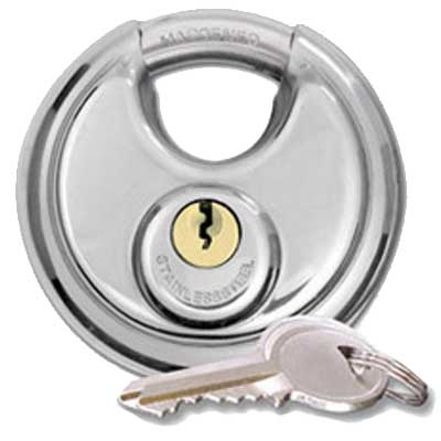 stainless steel disc lock